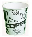 Стакан картонный одинарный под горячие напитки Черный кофе , 300 мл, 50 шт./уп.